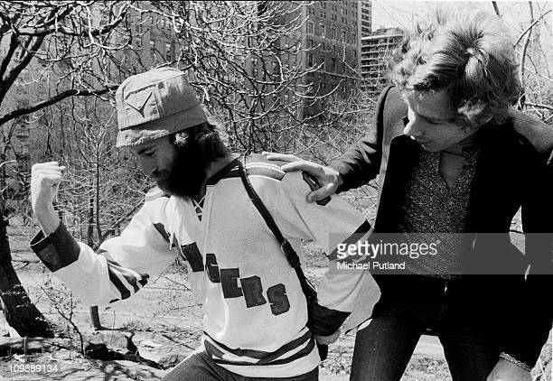 Genesis portraits in Central Park New York Phil Collins Tony Banks