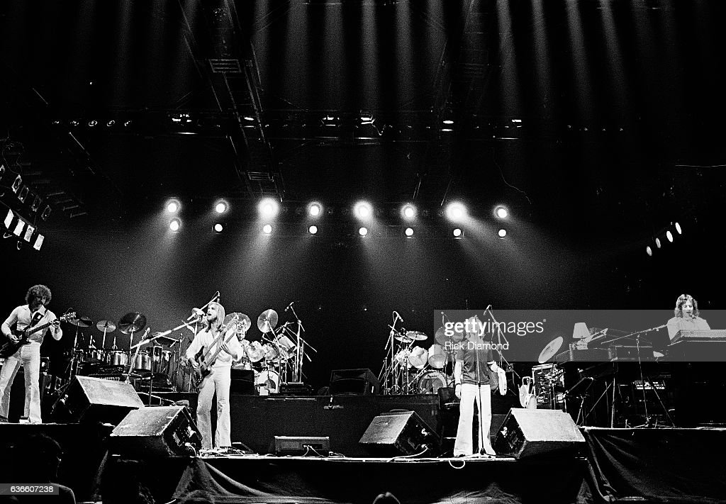 Genesis, Rock and Roll Hall of Fame (Class of 2010) L/R - Daryl Stuermen, Mike Rutherfor, Phil Collins and Tony Banks perform at The Omni Coliseum in Atlanta Georgia October 4, 1978