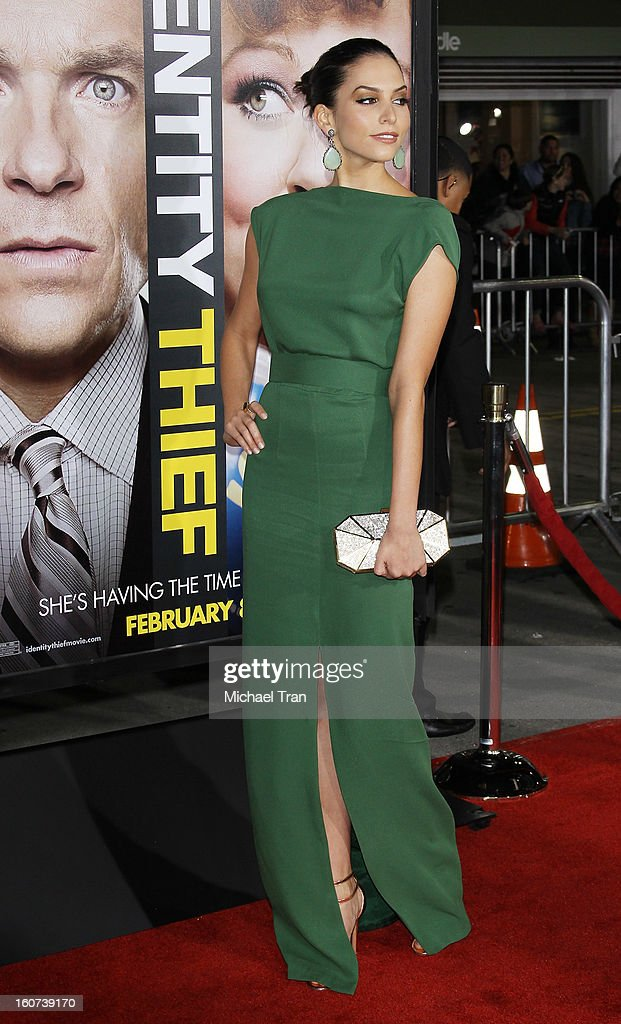 Genesis Rodriguez arrives at the Los Angeles premiere of 'Identity Thief' held at Mann Village Theatre on February 4, 2013 in Westwood, California.