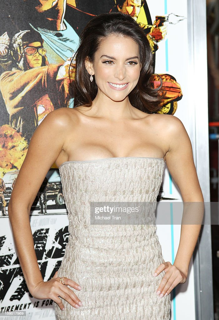 Genesis Rodriguez arrives at the Los Angeles premiere of 'The Last Stand' held at Grauman's Chinese Theatre on January 14, 2013 in Hollywood, California.