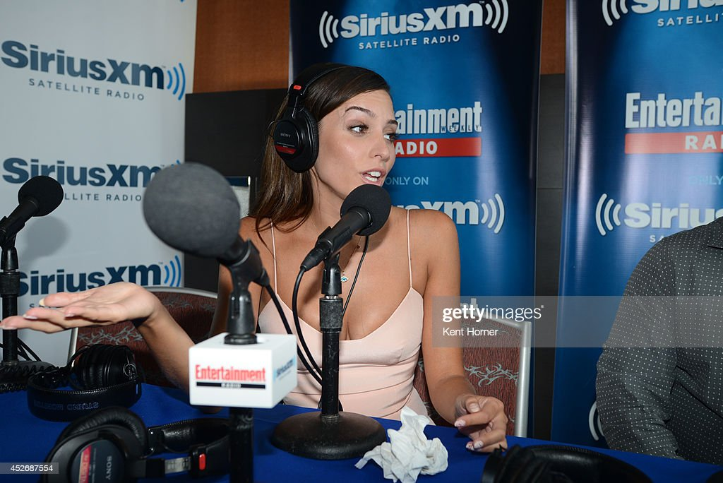 Genesis Rodriquez is interviewed on SiriusXM's Entertainment Weekly Radio channel from Comic-Con 2014 at The Hard Rock Hotel on July 25, 2014 in San Diego, California.