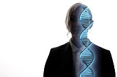 genetic engineering concept. 3D rendering.