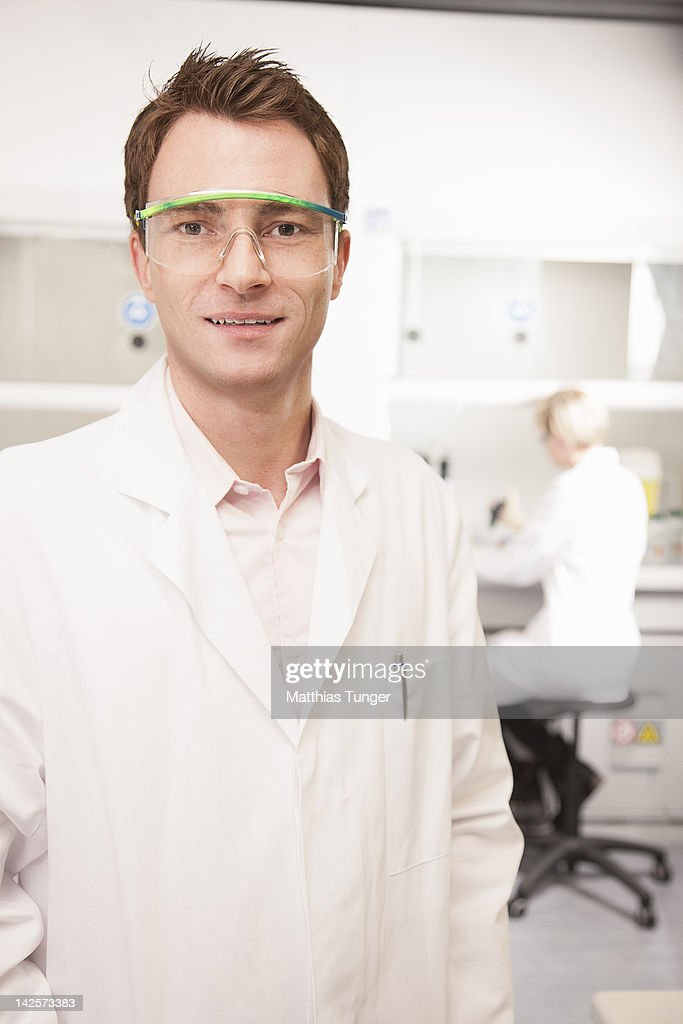 Genetic Engineers at work : Stock Photo