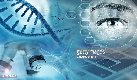 genetic research abstract background : Stock Photo