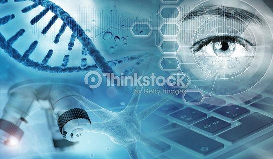 遺伝子研究の抽象的な背景 : ストックフォト