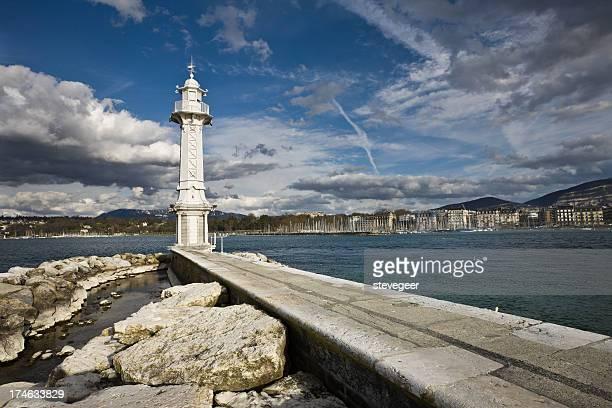 Genf Wahrzeichen Lighthouse