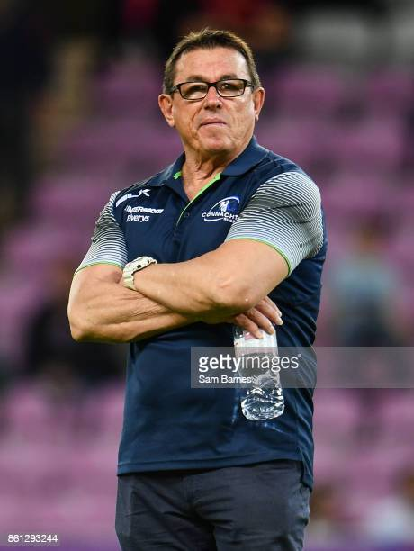 Geneva Switzerland 14 October 2017 Connacht head coach Kieran Keane ahead of the European Rugby Challenge Cup Pool 5 Round 1 match between Oyonnax...