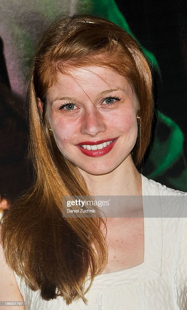 Genevieve Angelson attends the 'Vanya and Sonia and Masha and Spike,' press night at Mitzi E. Newhouse Theater on November 12, 2012 in New York City.