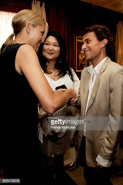 Genevieve Bahrenburg Susan Shin and Esteban Cortaza attend EMANUEL UNGARO Inivites you to Join DAYSSI OLARTE De KANAVOS and SUSAN SHIN for a Luncheon...