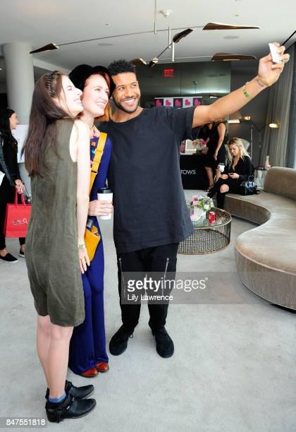 Genevieve Buechner Breeda Wool and Jeffrey BowyerChapman attend Kari Feinstein's Style Lounge presented by Ocean Spray on September 15 2017 in Los...