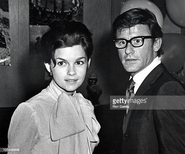Genevieve Bujold and Roddy McDowall during Party for Dr Dolittle Album at Danny's Hideaway Restaurant in New York City New York United States
