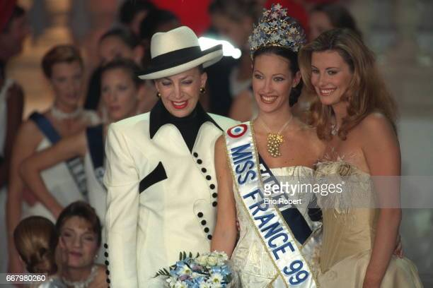 Genevieve de Fontenay Mareva Galantier Miss Tahi ti now Miss France 1999 and Sophie Thalmann