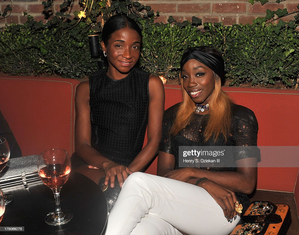 <a gi-track='captionPersonalityLinkClicked' href=/galleries/search?phrase=Genevieve+Jones&family=editorial&specificpeople=212813 ng-click='$event.stopPropagation()'>Genevieve Jones</a> and Estelle attend The Cinema Society and MCM with Grey Goose screening of Radius TWC's 'Lovelace' after party at Refinery Rooftop on July 30, 2013 in New York City.