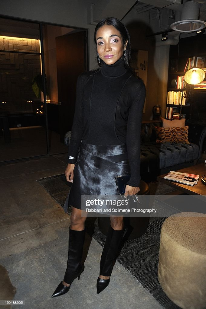 <a gi-track='captionPersonalityLinkClicked' href=/galleries/search?phrase=Genevieve+Jones&family=editorial&specificpeople=212813 ng-click='$event.stopPropagation()'>Genevieve Jones</a> attends a cocktail party in honor of Salvatore Ferragamo's Short Film at Neuehouse on November 6, 2013 in New York City.