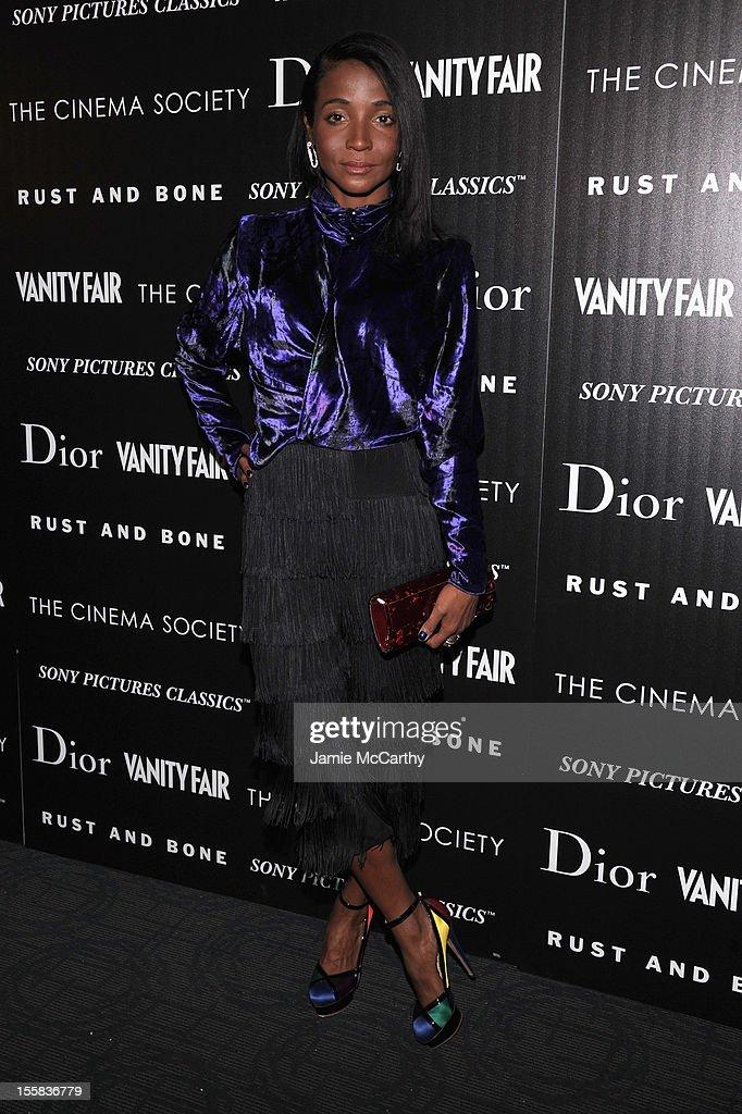 Genevieve Jones attends The Cinema Society with Dior & Vanity Fair screening of 'Rust And Bone' at Landmark Sunshine Cinema on November 8, 2012 in New York City.