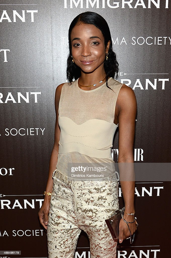 <a gi-track='captionPersonalityLinkClicked' href=/galleries/search?phrase=Genevieve+Jones&family=editorial&specificpeople=212813 ng-click='$event.stopPropagation()'>Genevieve Jones</a> attends the Dior & Vanity Fair with The Cinema Society premiere of The Weinstein Company's 'The Immigrant' at The Paley Center for Media on May 6, 2014 in New York City.