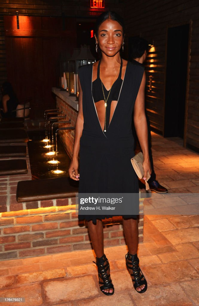 <a gi-track='captionPersonalityLinkClicked' href=/galleries/search?phrase=Genevieve+Jones&family=editorial&specificpeople=212813 ng-click='$event.stopPropagation()'>Genevieve Jones</a> attends the Downtown Calvin Klein with The Cinema Society screening of IFC Films' 'Ain't Them Bodies Saints' after party at Refinery Rooftop on August 13, 2013 in New York City.