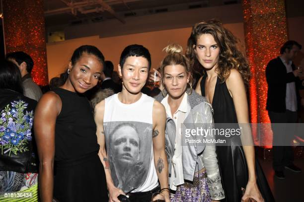 Genevieve Jones Jenny Shimizu Jenne Lombardo and Marieke Sterling attend RxArt Celebrates 10 Years of Bringing Contemporary Art to Hospitals at The...
