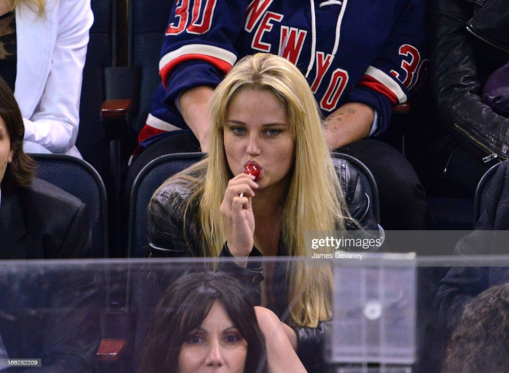 <a gi-track='captionPersonalityLinkClicked' href=/galleries/search?phrase=Genevieve+Morton&family=editorial&specificpeople=6583076 ng-click='$event.stopPropagation()'>Genevieve Morton</a> attends the New York Rangers vs Toronto Maple Leafs game at Madison Square Garden on April 10, 2013 in New York City.