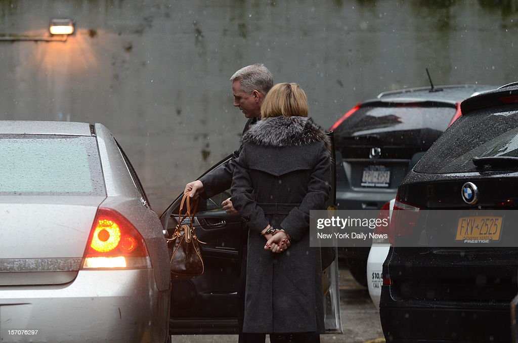 Genevieve Sabourin, as the accused stalker of Alec Baldwin arriving at 20 Pct., W 82 St. in Manhattan was arrested for violating a restraining order. Sabourin, the busty, blond French Canadian actress, was fired by her lawyer, then rearrested outside a Manhattan Criminal Courtroom.