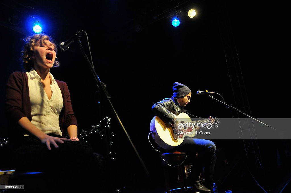 Genevieve Schatz and Marc Walloch of Company Of Thieves performs at Headliners Music Hall on February 6, 2013 in Louisville, Kentucky.