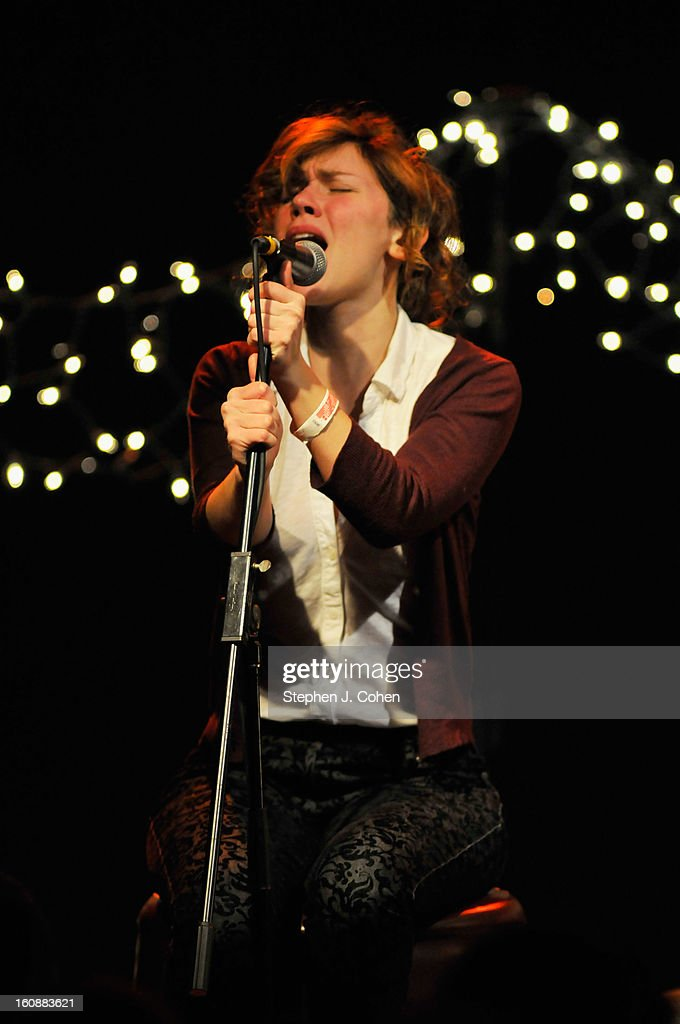 Genevieve Schatz of Company Of Thieves performs at Headliners Music Hall on February 6, 2013 in Louisville, Kentucky.