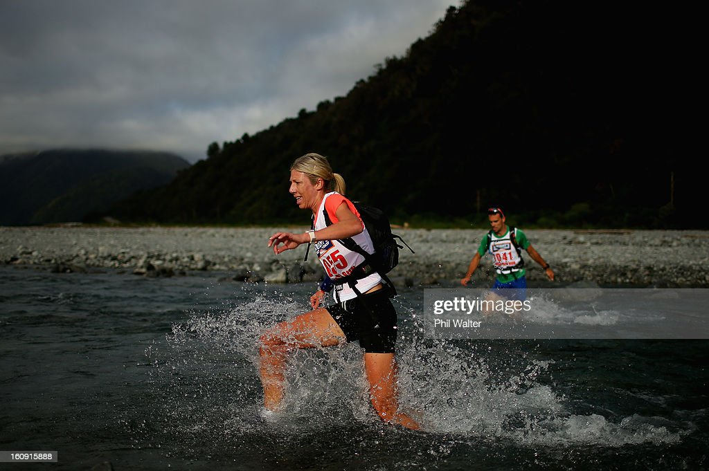 Genevieve Stark of New Zealand competes in the run only event during the 2013 Speights Coast to Coast on February 8, 2013 in Christchurch, New Zealand.