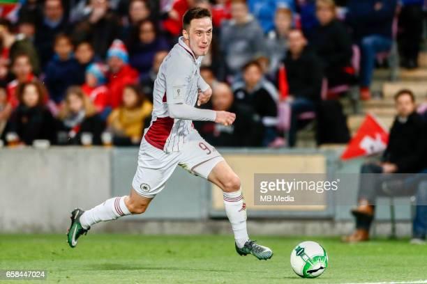 Genf Fussball WM Quali Schweiz Lettland 'Davis Ikaunieks '