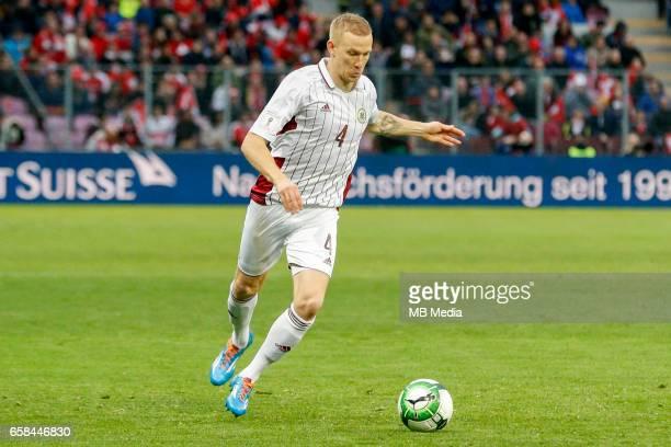 Genf Fussball WM Quali Schweiz Lettland 'Gints Freimanis '
