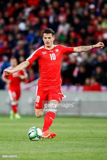 Genf Fussball WM Quali Schweiz Lettland 'Granit Xhaka '