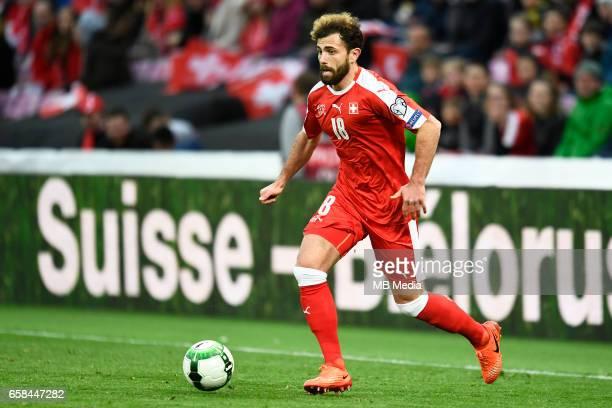 Genf Fussball WM Quali Schweiz Lettland'Admir Mehmedi '
