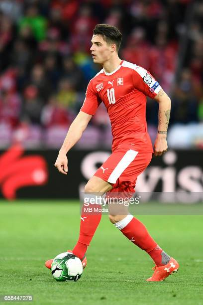 Genf Fussball WM Quali Schweiz Lettland'Granit Xhaka '