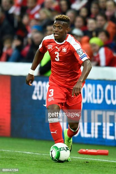 Genf Fussball WM Quali Schweiz Lettland'J Francois Moubandje '