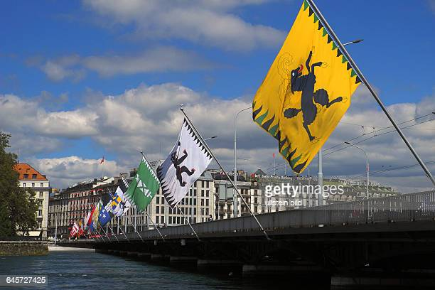 Genf hier ein Blick auf das Genfer SeeuferStandort diverser Banken