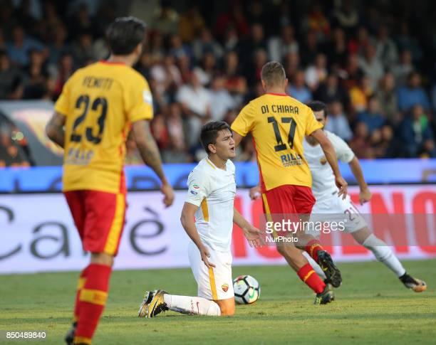 Gengiz Under of AS Roma during the Serie A match between Benevento Calcio and AS Roma at Stadio Ciro Vigorito on September 20 2017 in Benevento Italy