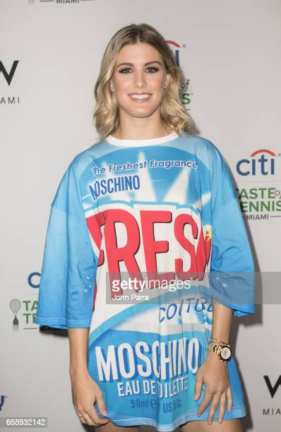 Genie Bouchard arrives at the Citi Taste Of Tennis Miami at W Hotel on March 20 2017 in Miami Florida