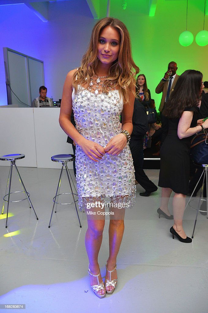 Genie Hannah Davis attends DIRECTV's 2013 National Ad Sales Upfront on May 7, 2013 in New York City.