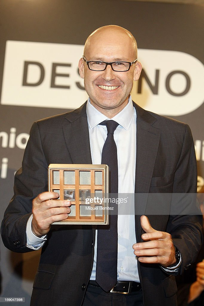 Genis Sinca wins the 45th 'Josep Pla literature award' with his 'Una familia exemplar', 'An exemplary family' on January 6, 2013 in Barcelona, Spain.