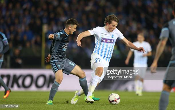 Krc Genk vs Rc Celta de Vigo / 'nNemanja RADOJA Sander BERGE'nFootball Uefa Europa League 2016 2017 QuarterFinal 2nd leg Luminus Arena /'n© Vincent...