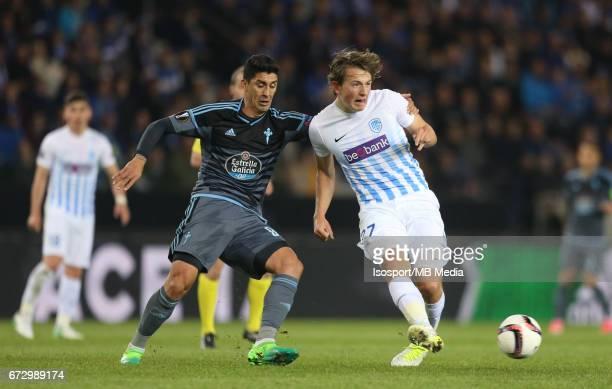 Krc Genk vs Rc Celta de Vigo / 'nPablo HERNANDEZ Sander BERGE'nFootball Uefa Europa League 2016 2017 QuarterFinal 2nd leg Luminus Arena /'n© Vincent...