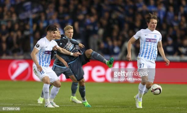 Krc Genk vs Rc Celta de Vigo / 'nRuslan MALINOVSKYI Pablo HERNANDEZ Sander BERGE'nFootball Uefa Europa League 2016 2017 QuarterFinal 2nd leg Luminus...