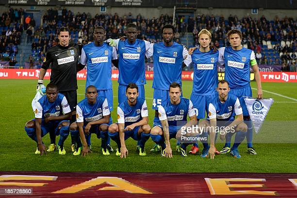 Genk players pose for a team photo during the UEFA Europa League Group G match between Racing Genk and SK Rapid Wien on October 24 2013 in Genk...