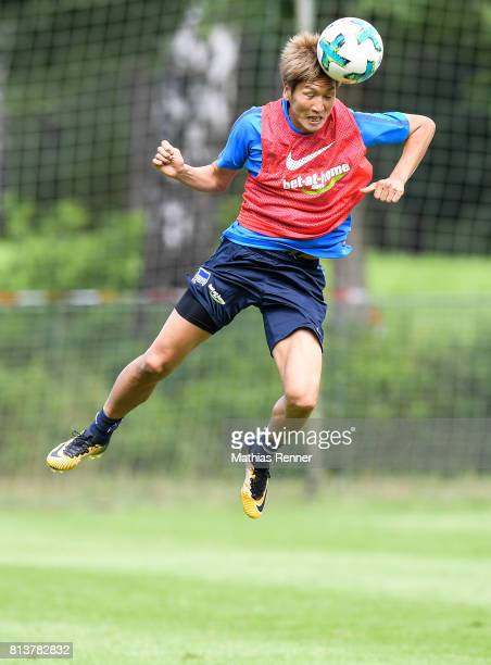 Genki Haraguchi during the sixth day of the training camp of Hertha BSC on july 13 2017 in Bad Saarow Germany