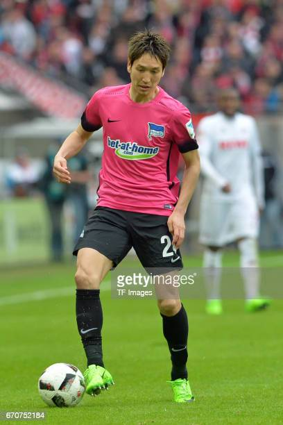 Genki Haraguchi of Berlin in action during the Bundesliga match between 1 FC Koeln and Hertha BSC at RheinEnergieStadion on March 18 2017 in Cologne...
