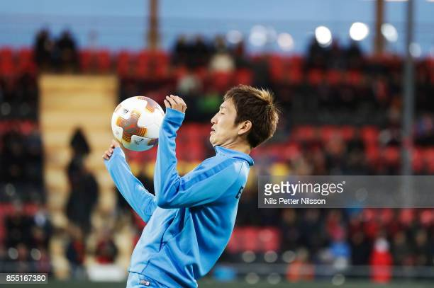 Genki Haraguchi of Herta Berlin SC ahead of the Allsvenskan match between Athletic FC Eskilstuna and IFK Goteborg at Tunavallen on September 25 2017...