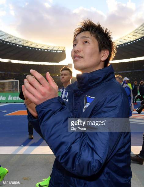 Genki Haraguchi of Hertha BSC after the Bundesliga match between Hertha BSC and Borussia Dortmund at the Olympiastadion on march 11 2017 in Berlin...