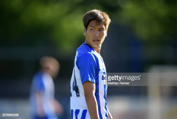 Genki Haraguchi of Hertha BSC during the test match between Hertha BSC and Club Italia Berlino on july 28 2017 in Berlin Germany