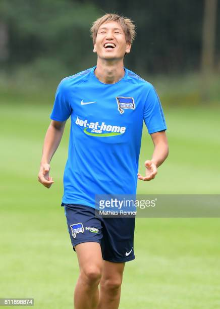 Genki Haraguchi of Hertha BSC during the training camp of Hertha BSC on july 10 2017 in Bad Saarow Germany
