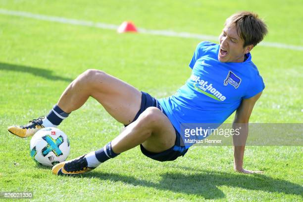 Genki Haraguchi of Hertha BSC during the training camp on august 3 2017 in Schladming Austria
