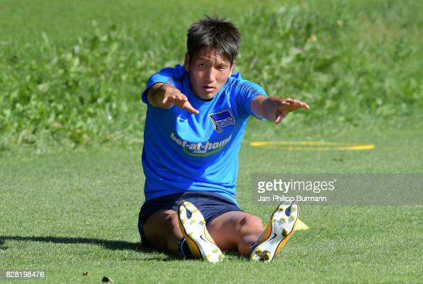 Genki Haraguchi of Hertha BSC during the training on august 9 2017 in Berlin Germany